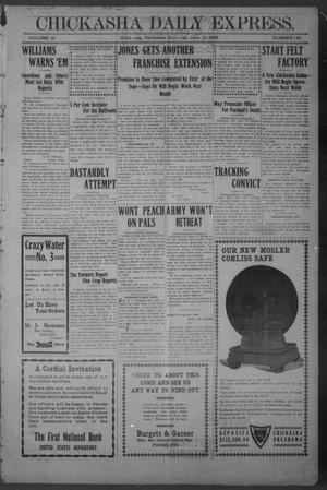 Primary view of object titled 'Chickasha Daily Express. (Chickasha, Okla.), Vol. 10, No. 146, Ed. 1 Saturday, June 19, 1909'.