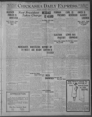 Primary view of object titled 'Chickasha Daily Express. (Chickasha, Okla.), Vol. 12, No. 8, Ed. 1 Tuesday, January 10, 1911'.