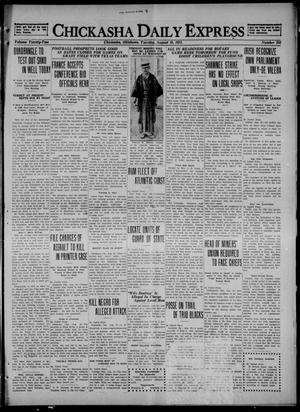 Primary view of object titled 'Chickasha Daily Express (Chickasha, Okla.), Vol. 22, No. 203, Ed. 1 Tuesday, August 16, 1921'.