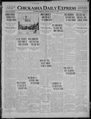 Primary view of object titled 'Chickasha Daily Express (Chickasha, Okla.), Vol. 21, No. 41, Ed. 1 Tuesday, February 17, 1920'.