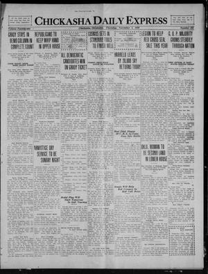 Primary view of object titled 'Chickasha Daily Express (Chickasha, Okla.), Vol. 21, No. 264, Ed. 1 Thursday, November 4, 1920'.