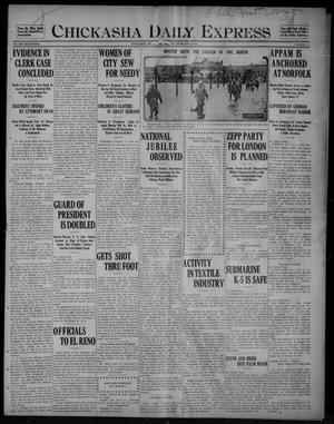 Primary view of object titled 'Chickasha Daily Express (Chickasha, Okla.), Vol. SEVENTEEN, No. 27, Ed. 1 Tuesday, February 1, 1916'.