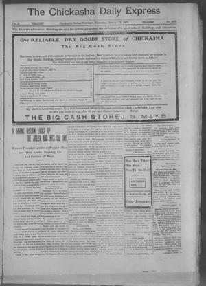 Primary view of object titled 'The Chickasha Daily Express. (Chickasha, Indian Terr.), Vol. 2, No. 268, Ed. 1 Thursday, October 17, 1901'.