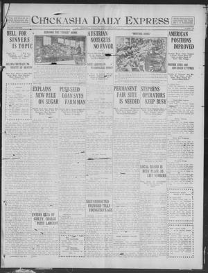 Primary view of object titled 'Chickasha Daily Express (Chickasha, Okla.), Vol. 19, No. 218, Ed. 1 Monday, September 16, 1918'.