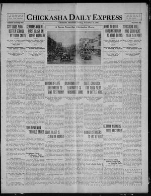 Primary view of object titled 'Chickasha Daily Express (Chickasha, Okla.), Vol. 21, No. 271, Ed. 1 Friday, November 12, 1920'.