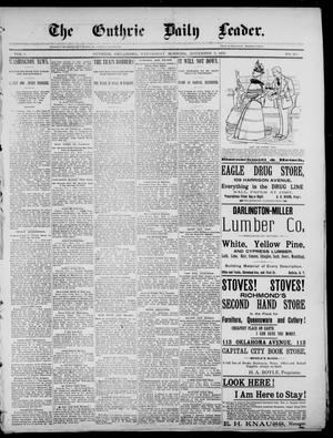 Primary view of object titled 'The Guthrie Daily Leader. (Guthrie, Okla.), Vol. 1, No. 291, Ed. 1, Wednesday, November 8, 1893'.