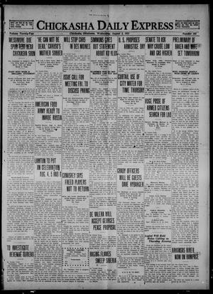 Primary view of object titled 'Chickasha Daily Express (Chickasha, Okla.), Vol. 22, No. 192, Ed. 1 Wednesday, August 3, 1921'.