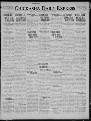 Primary view of object titled 'Chickasha Daily Express (Chickasha, Okla.), Vol. 21, No. 9, Ed. 1 Saturday, January 10, 1920'.