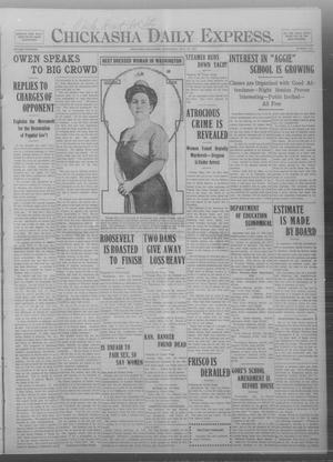 Primary view of object titled 'Chickasha Daily Express. (Chickasha, Okla.), Vol. THIRTEEN, No. 175, Ed. 1 Wednesday, July 24, 1912'.