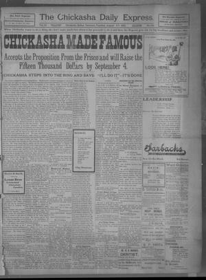 Primary view of object titled 'The Chickasha Daily Express (Chickasha, Indian Terr.), Vol. 10, No. 196, Ed. 1 Tuesday, August 27, 1901'.