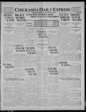 Primary view of object titled 'Chickasha Daily Express (Chickasha, Okla.), Vol. 21, No. 244, Ed. 1 Tuesday, October 12, 1920'.