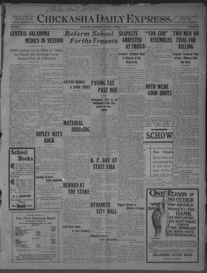 Primary view of Chickasha Daily Express. (Chickasha, Okla.), Vol. 11, No. 236, Ed. 1 Tuesday, October 4, 1910