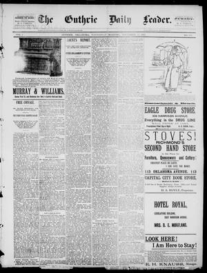 Primary view of object titled 'The Guthrie Daily Leader. (Guthrie, Okla.), Vol. 1, No. 303, Ed. 1, Wednesday, November 22, 1893'.