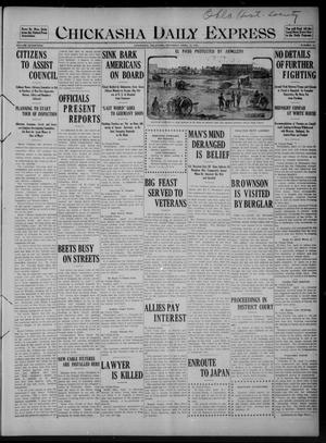 Primary view of object titled 'Chickasha Daily Express (Chickasha, Okla.), Vol. SEVENTEEN, No. 91, Ed. 1 Saturday, April 15, 1916'.