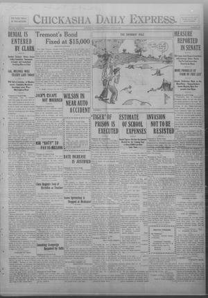 Primary view of object titled 'Chickasha Daily Express. (Chickasha, Okla.), Vol. FOURTEEN, No. 165, Ed. 1 Friday, July 11, 1913'.