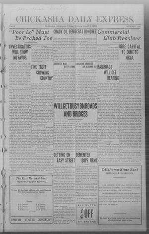 Primary view of object titled 'Chickasha Daily Express. (Chickasha, Okla.), Vol. 9, No. 140, Ed. 1 Friday, June 12, 1908'.