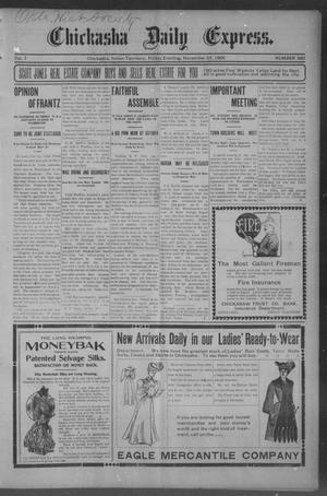 Primary view of object titled 'Chickasha Daily Express. (Chickasha, Indian Terr.), Vol. 7, No. 280, Ed. 1 Friday, November 24, 1905'.