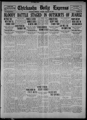 Primary view of object titled 'Chickasha Daily Express (Chickasha, Okla.), Vol. 23, No. 142, Ed. 1 Saturday, September 30, 1922'.