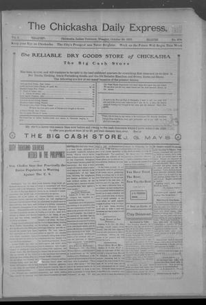 Primary view of object titled 'The Chickasha Daily Express. (Chickasha, Indian Terr.), Vol. 2, No. 278, Ed. 1 Tuesday, October 29, 1901'.