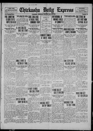 Primary view of object titled 'Chickasha Daily Express (Chickasha, Okla.), Vol. 23, No. 61, Ed. 1 Monday, June 26, 1922'.