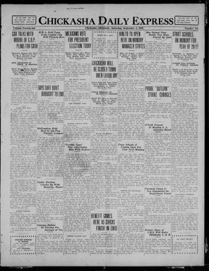 Primary view of object titled 'Chickasha Daily Express (Chickasha, Okla.), Vol. 21, No. 213, Ed. 1 Saturday, September 4, 1920'.