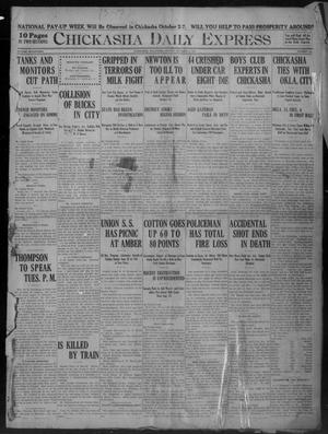 Primary view of object titled 'Chickasha Daily Express (Chickasha, Okla.), Vol. 17, No. 234, Ed. 1 Monday, October 2, 1916'.