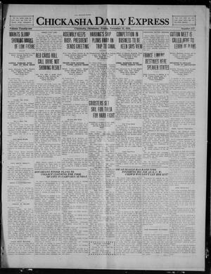Primary view of object titled 'Chickasha Daily Express (Chickasha, Okla.), Vol. 21, No. 277, Ed. 1 Friday, November 19, 1920'.