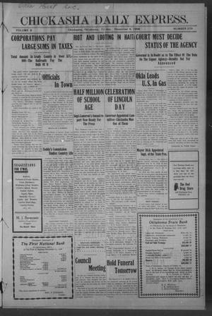 Primary view of Chickasha Daily Express. (Chickasha, Okla.), Vol. 9, No. 279, Ed. 1 Friday, December 4, 1908