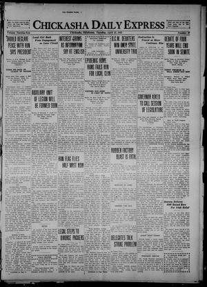 Primary view of Chickasha Daily Express (Chickasha, Okla.), Vol. 22, No. 87, Ed. 1 Tuesday, April 12, 1921
