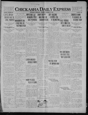 Primary view of object titled 'Chickasha Daily Express (Chickasha, Okla.), Vol. 21, No. 290, Ed. 1 Monday, December 6, 1920'.