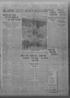 Primary view of object titled 'Chickasha Daily Express. (Chickasha, Okla.), Vol. THIRTEEN, No. 47, Ed. 1 Friday, February 23, 1912'.