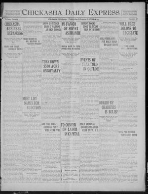 Primary view of object titled 'Chickasha Daily Express (Chickasha, Okla.), Vol. 20, No. 49, Ed. 1 Wednesday, February 26, 1919'.