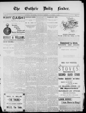 Primary view of The Guthrie Daily Leader. (Guthrie, Okla.), Vol. 2, No. 22, Ed. 1, Thursday, December 28, 1893