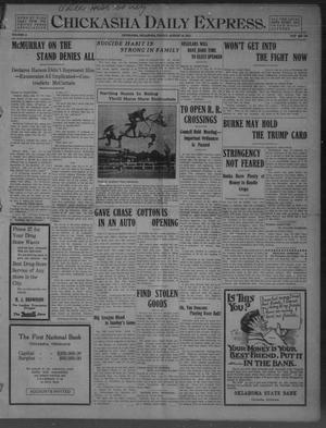 Primary view of object titled 'Chickasha Daily Express. (Chickasha, Okla.), Vol. 11, No. 198, Ed. 1 Friday, August 19, 1910'.