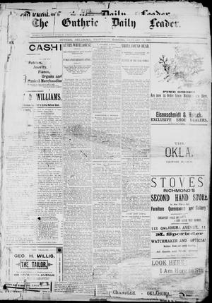 The Guthrie Daily Leader. (Guthrie, Okla.), Vol. 2, No. 26, Ed. 1, Wednesday, January 3, 1894