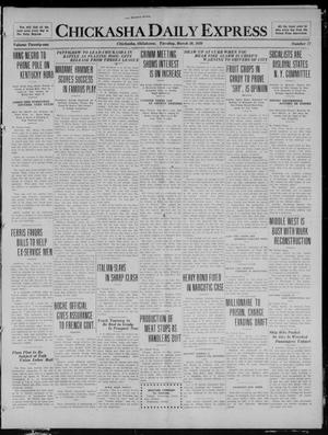 Primary view of object titled 'Chickasha Daily Express (Chickasha, Okla.), Vol. 21, No. 77, Ed. 1 Tuesday, March 30, 1920'.