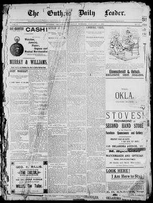 Primary view of object titled 'The Guthrie Daily Leader. (Guthrie, Okla.), Vol. 2, No. 27, Ed. 1, Thursday, January 4, 1894'.
