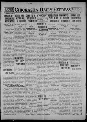 Primary view of object titled 'Chickasha Daily Express (Chickasha, Okla.), Vol. 22, No. 16, Ed. 1 Wednesday, January 19, 1921'.