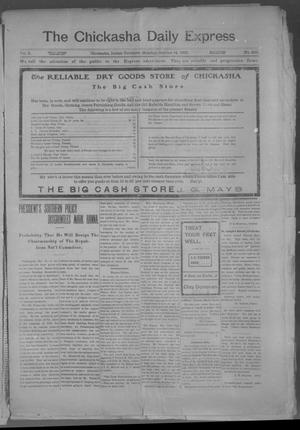 Primary view of object titled 'The Chickasha Daily Express. (Chickasha, Indian Terr.), Vol. 2, No. 265, Ed. 1 Monday, October 14, 1901'.