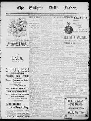 Primary view of object titled 'The Guthrie Daily Leader. (Guthrie, Okla.), Vol. 2, No. 32, Ed. 1, Wednesday, January 10, 1894'.