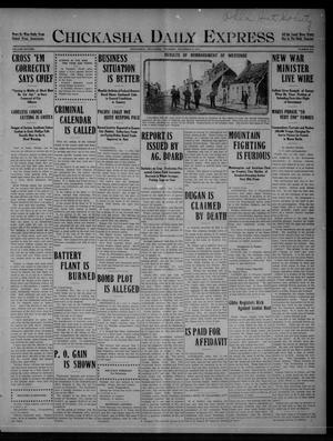 Primary view of object titled 'Chickasha Daily Express (Chickasha, Okla.), Vol. SIXTEEN, No. 315, Ed. 1 Thursday, December 2, 1915'.