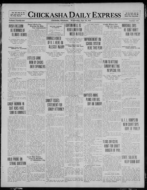 Primary view of object titled 'Chickasha Daily Express (Chickasha, Okla.), Vol. 21, No. 144, Ed. 1 Wednesday, June 16, 1920'.