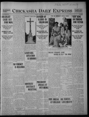 Primary view of object titled 'Chickasha Daily Express (Chickasha, Okla.), Vol. SEVENTEEN, No. 25, Ed. 1 Saturday, January 29, 1916'.
