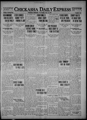 Primary view of object titled 'Chickasha Daily Express (Chickasha, Okla.), Vol. 22, No. 127, Ed. 1 Wednesday, September 14, 1921'.