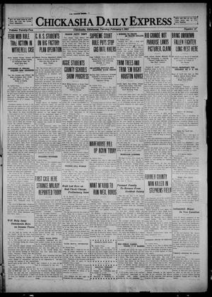 Primary view of object titled 'Chickasha Daily Express (Chickasha, Okla.), Vol. 22, No. 27, Ed. 1 Tuesday, February 1, 1921'.