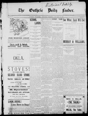 Primary view of object titled 'The Guthrie Daily Leader. (Guthrie, Okla.), Vol. 2, No. 47, Ed. 1, Saturday, January 27, 1894'.