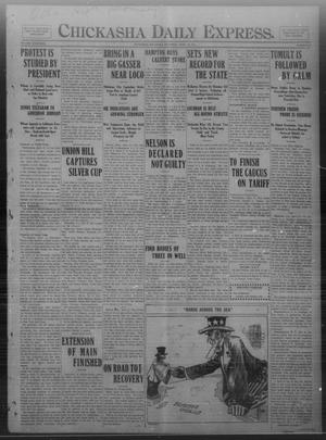 Primary view of object titled 'Chickasha Daily Express. (Chickasha, Okla.), Vol. FOURTEEN, No. 94, Ed. 1 Saturday, April 19, 1913'.