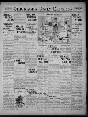 Primary view of object titled 'Chickasha Daily Express. (Chickasha, Okla.), Vol. FIFTEEN, No. 164, Ed. 1 Saturday, July 11, 1914'.