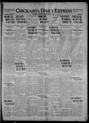 Primary view of object titled 'Chickasha Daily Express (Chickasha, Okla.), Vol. 22, No. 51, Ed. 1 Tuesday, March 1, 1921'.