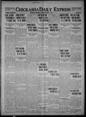 Primary view of object titled 'Chickasha Daily Express (Chickasha, Okla.), Vol. 22, No. 121, Ed. 1 Wednesday, September 7, 1921'.